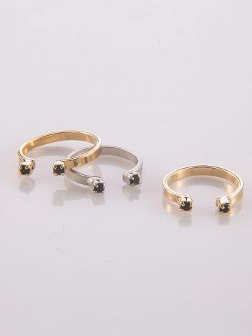 טבעת חצי כסף של SK - SHANI KALAY