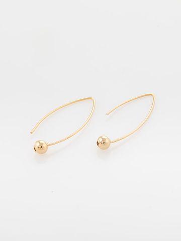 עגילי נייט קטנים זהב של SK - SHANI KALAY