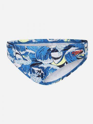 תחתוני בגד ים בהדפס כרישים / בייבי בנים של SPEEDO