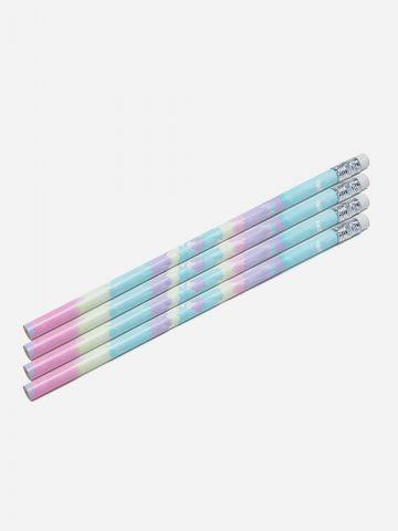סט 4 עפרונות בהדפס טאי דאי של YOLO
