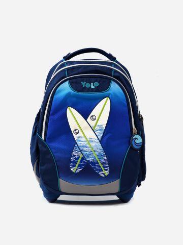 תיק גב עם פאץ' גלשנים ולוגו / בנים של YOLO