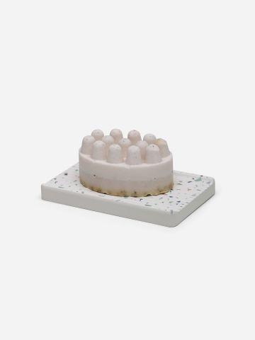 סבון מוצק סקראב לבנדר ותחתית קסם טראצו של VOS
