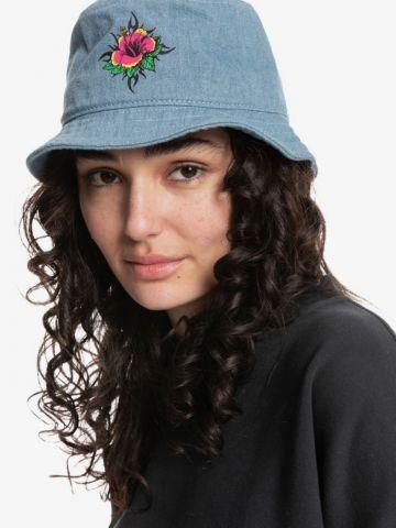 כובע באקט ג'ינס עם הדפס פרח של QUIKSILVER