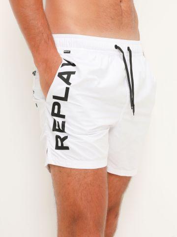 בגד ים עם לוגו מבריק של REPLAY