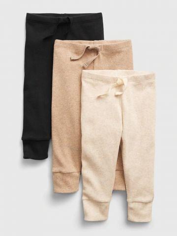 מארז 3 מכנסיים ריב / 0-24M של GAP