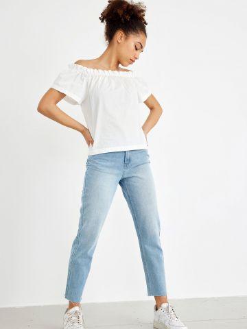 מכנסי ג'ינס עם סיומת גזורה של LMTD