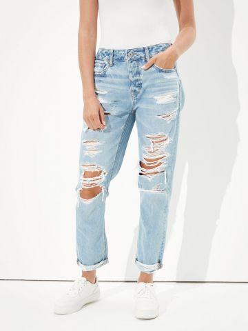 מכנסי ג'ינס Extra Fit בגזרה רחבה עם קרעים של AMERICAN EAGLE