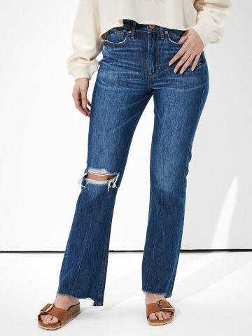מכנסי ג'ינס בגזרה רחבה עם קרעים Extra Fit של AMERICAN EAGLE