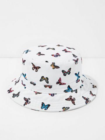 כובע באקט בהדפס פרפרים של AMERICAN EAGLE