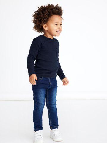 ג'ינס ארוך בשילוב שפשופים / 1.5-7Y של NAME IT