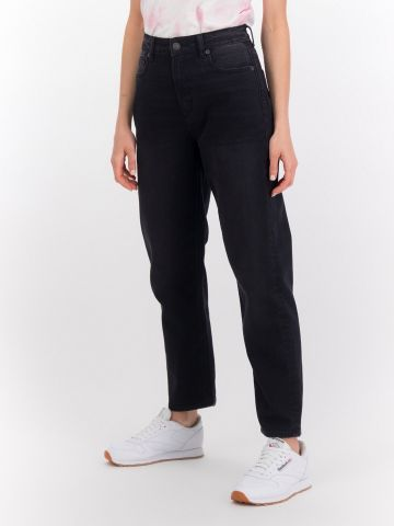 ג'ינס Mom ארוך בגזרה ישרה של AMERICAN EAGLE