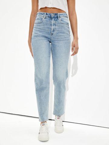 ג'ינס ארוך בשטיפה בהירה Mom של AMERICAN EAGLE