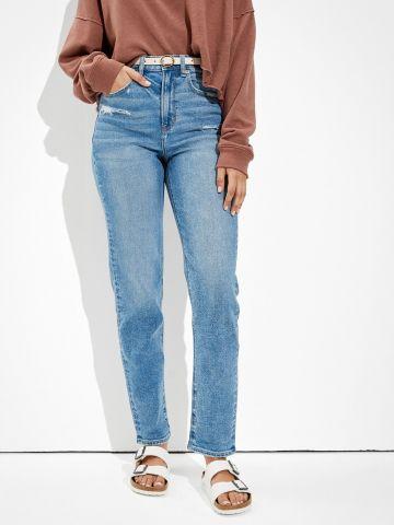 מכנסי ג'ינס בגזרת Mom עם קרעים של AMERICAN EAGLE
