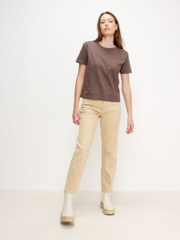 ג'ינס בגזרה ישרה Mom של AMERICAN EAGLE