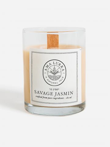 נר שמן טבעי בריח יסמין Savage Jasmine natural candle של AMA LURRA