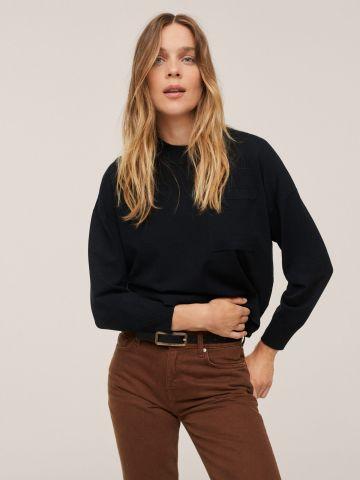 סוודר חלק בשילוב כיס של MANGO
