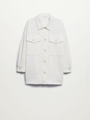 חולצה מכופתרת בגזרת אוברסייז / נשים של MANGO