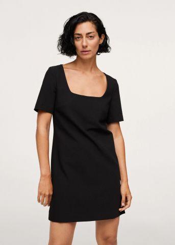 שמלת מיני עם מפתח מרובע של MANGO
