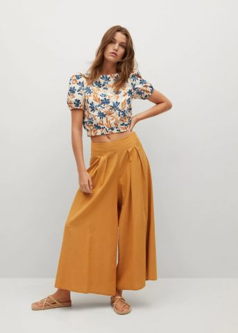 מכנסיים ארוכים רחבים Culotte של MANGO