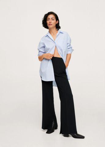 מכנסיים ארוכים עם שסע של MANGO