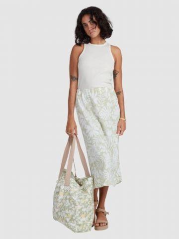 חצאית מידי בהדפס טרופי של BILLABONG