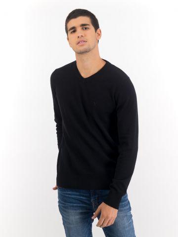 סוודר בשילוב צמר עם רקמת לוגו של AMERICAN EAGLE