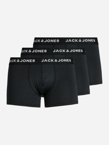 מארז 3 תחתוני בוקסר עם לוגו / גברים של JACK AND JONES