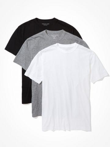 מארז 3 חולצות טי שירט / גברים של AMERICAN EAGLE
