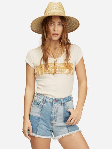 ג'ינס קצר קולור בלוק בסיומת פרומה של BILLABONG