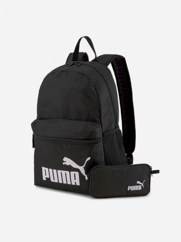 תיק גב עם הדפס לוגו בשילוב ארנק של PUMA