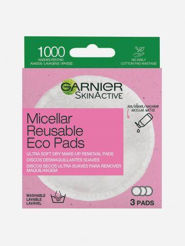 מיסלר Eco Pads להסרת איפור של GARNIER