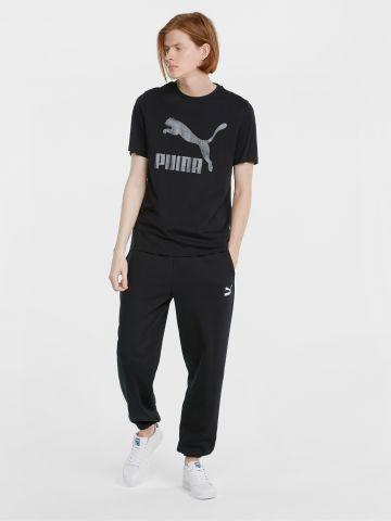 מכנסי טרנינג אוברסייז עם לוגו של PUMA