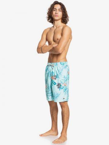מכנסי בגד ים בהדפס טרופי של QUIKSILVER