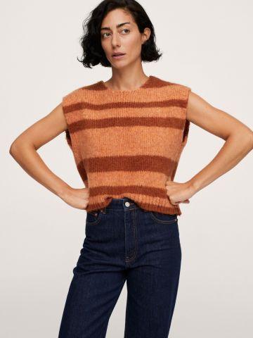 סוודר ללא שרוולים של MANGO