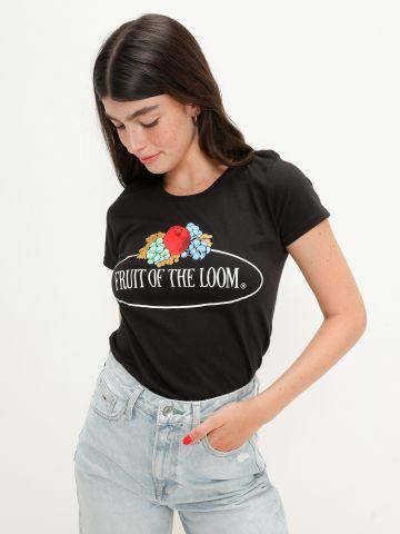 טי שירט עם לוגו / נשים של FRUIT OF THE LOOM