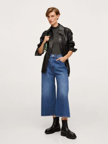 ג'ינס בגזרה גבוהה Culotte של MANGO