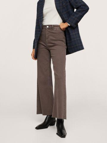 ג'ינס ארוך בגזרה גבוהה Culotte של MANGO