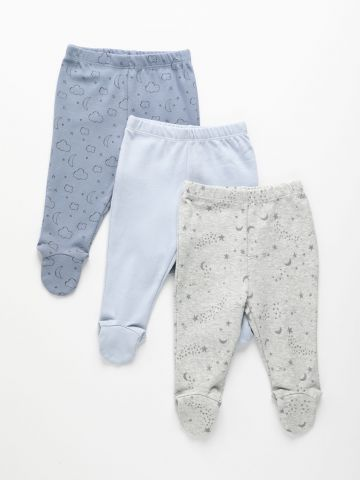מארז 3 מכנסיים עם רגליות / 0-24M של THE CHILDREN'S PLACE