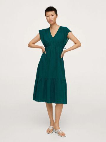 שמלת פפלום בטקסטורה של MANGO