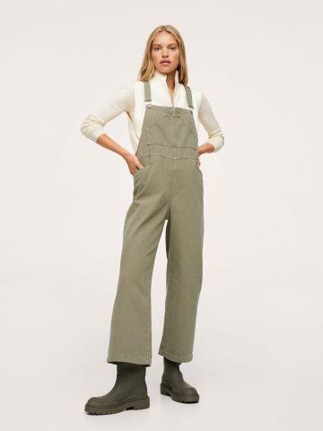 אוברול ג'ינס קרופ עם כיסים של MANGO