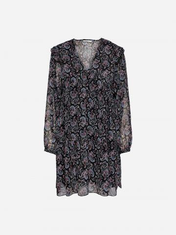 שמלת מיני בהדפס בשילוב מלמלה / נשים של ONLY