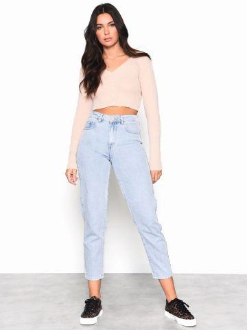 ג'ינס בגזרה גבוהה עם כיסים של GLAMOROUS