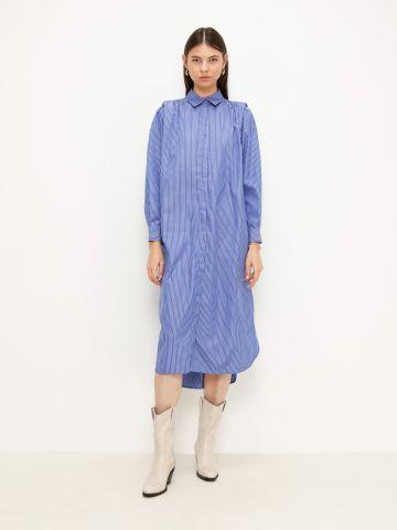 שמלה מכופתרת בהדפס פסים של TERMINAL X