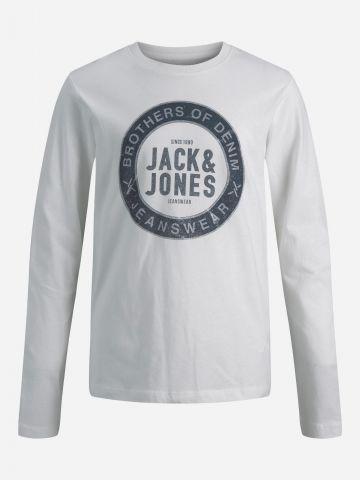 טי שירט עם הדפס לוגו / TEEN של JACK AND JONES