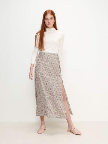 חצאית מעטפת בהדפס של YANGA