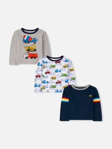 מארז 3 חולצות טי שירט בהדפסים / 6M-5Y של THE CHILDREN'S PLACE