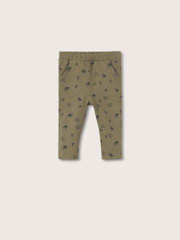 מכנסי טרנינג ארוכים בהדפס / 9M-5Y של MANGO
