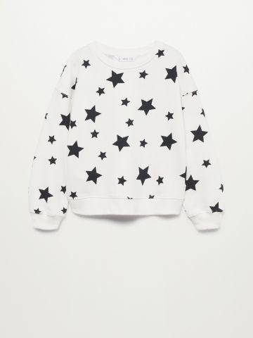 סווטשירט בהדפס כוכבים / בנות של MANGO
