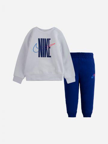 סט סווטשירט ומכנסיים ארוכים עם לוגו / בנים של NIKE