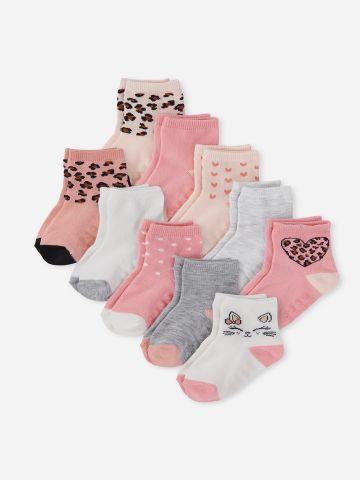 מארז 10 זוגות גרביים בצבעים שונים / 6M-4Y של THE CHILDREN'S PLACE